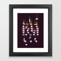 War Of The 8-Bit Worlds Framed Art Print