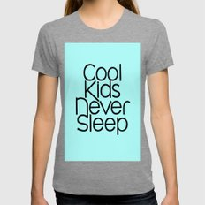 Cool Kids Womens Fitted Tee Tri-Grey SMALL