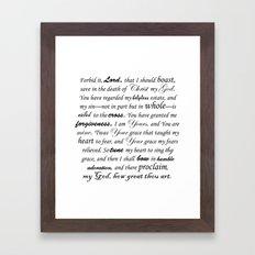 Prayer of Hymns Framed Art Print