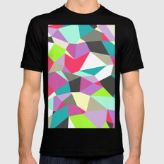 Geomesh 02 Black Mens Fitted Tee SMALL