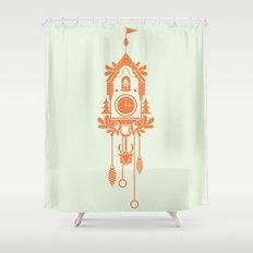Cuckoo Clock Shower Curtain