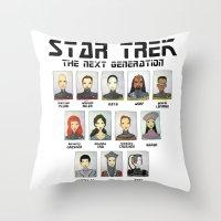 STAR TREK THE NEXT GENER… Throw Pillow