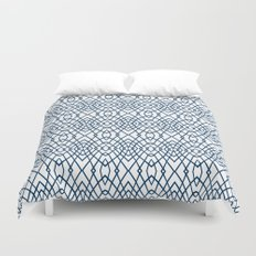 Web Navy Duvet Cover