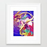 Our Moon and Stars Framed Art Print