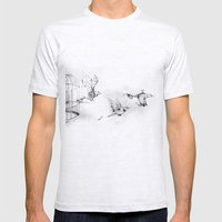 fuori dalle gabbie Mens Fitted Tee Ash Grey SMALL