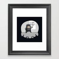 Ninja Lessons: Invisibil… Framed Art Print