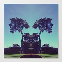 ink blot tree  Canvas Print