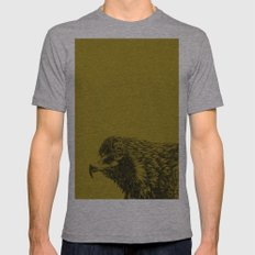 eagle eagle Mens Fitted Tee Athletic Grey SMALL