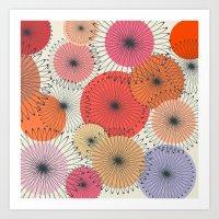 Spiral Flowers Art Print