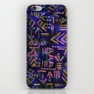 iPhone & iPod Skin featuring Tapa Tribal Aura by Schatzi Brown