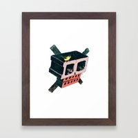 Brick Crossbones and a Bird Framed Art Print