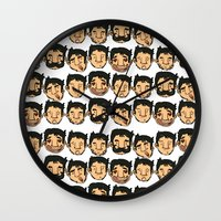 Goggs Faces Wall Clock