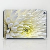 White Dahlia Flower iPad Case