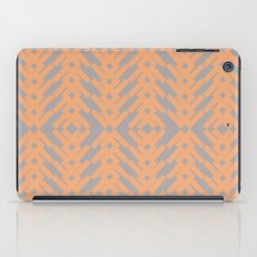 Peach and Gray Tribal Pattern iPad Case