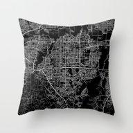 Arlington Map Texas Throw Pillow