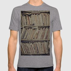 books Mens Fitted Tee Athletic Grey SMALL