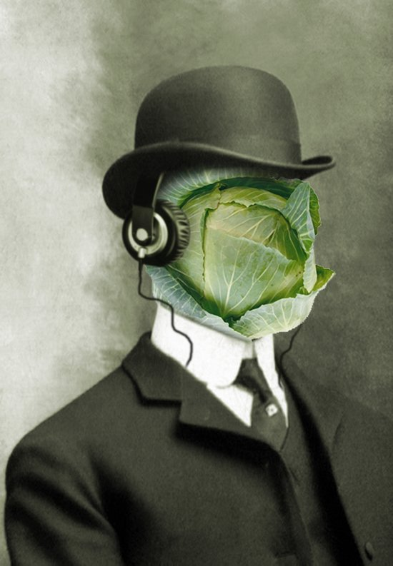 Bowler cabbage Art Print