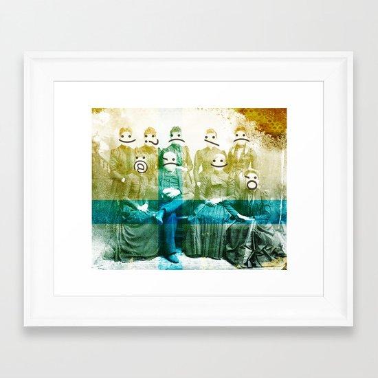 the semicolon sisters Framed Art Print