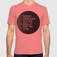 Sorry Verdana you're really not my type Mens Fitted Tee Pomegranate SMALL