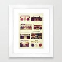 Analog Love: Boom Framed Art Print