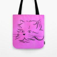 Cat Lines Tote Bag