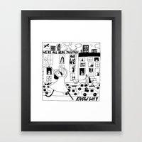 Alive Girl & The Existen… Framed Art Print