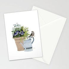 Pansies in a pot Stationery Cards