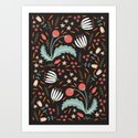 Floral Fusion Art Print