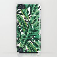 iPod Touch Cases featuring Tropical Glam Banana Leaf Print by Nikki