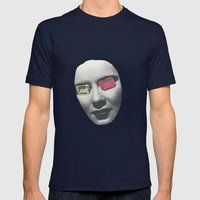 Psychedelic Glasses II Mens Fitted Tee Navy SMALL