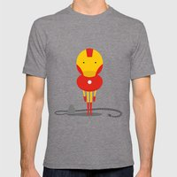 My ironing Hero! Mens Fitted Tee Tri-Grey SMALL