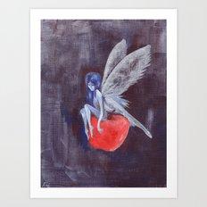 Fairy Loves Apple Art Print