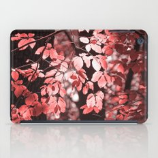 Red leaves iPad Case