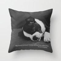 Puppy Love Rudyard Kipling Quote Throw Pillow