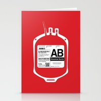 My Blood Type Is AB, For… Stationery Cards