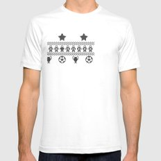 Nerdic (soccer pattern) Mens Fitted Tee SMALL White
