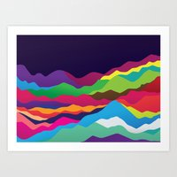 Mountains of Sand Art Print