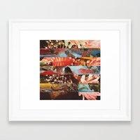 The Flower Lane  Framed Art Print