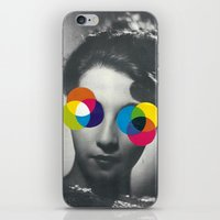Psychedelic glasses iPhone & iPod Skin