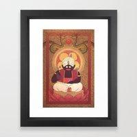 Enlightened Mr. Popo Framed Art Print