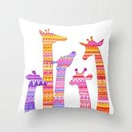 Giraffe Silhouettes In C… Throw Pillow