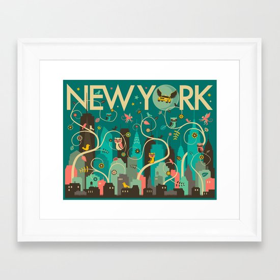 WILD NEW YORK Framed Art Print