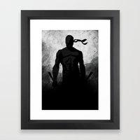 The Devil B&W Framed Art Print