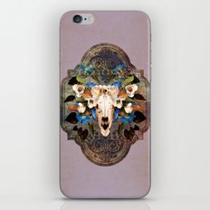 Southwest Sheep Skull and Flowers iPhone & iPod Skin