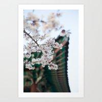 Blossoms Near The Bell, … Art Print