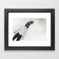 Drifting Man Framed Art Print