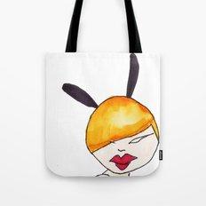 Black bunny Tote Bag