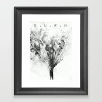 Burn Framed Art Print