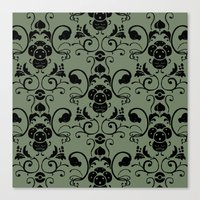 Grass Type Damask Canvas Print