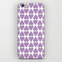 Diamond Hearts Repeat O iPhone & iPod Skin